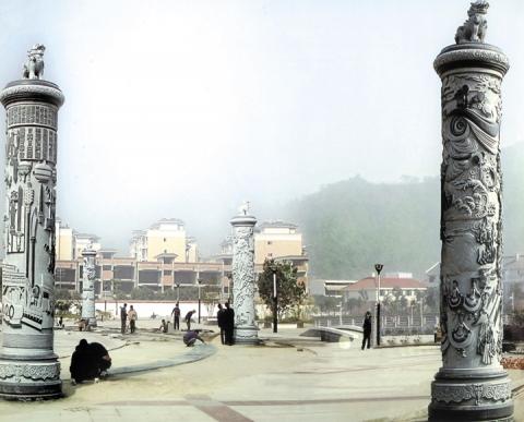 江西黎川百福公园文化柱