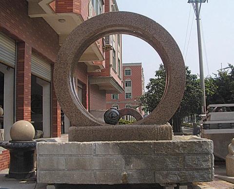 石雕风水轮作品