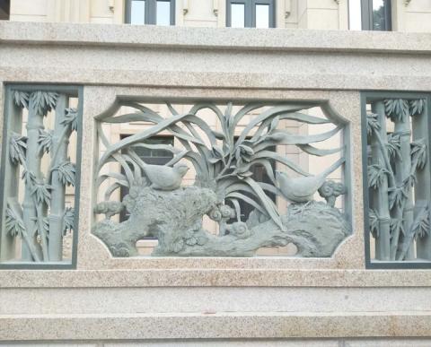 兰花浮雕雕刻