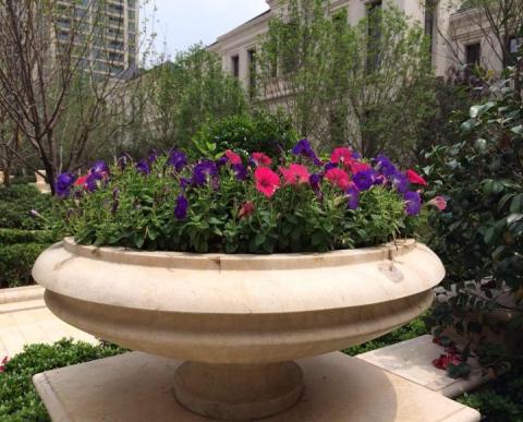 绍兴绿城石雕花盆