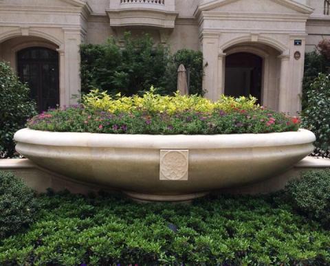 绍兴绿城景观石雕花盆