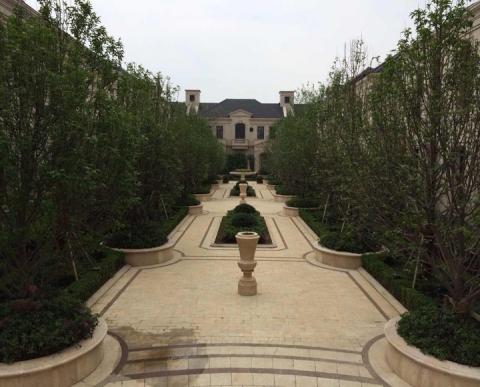 绍兴绿城景观石雕花钵